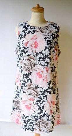 Sukienka Nowa M 38 Kwiaty Wzory Elegancka Peonie Reserved Mango H&M