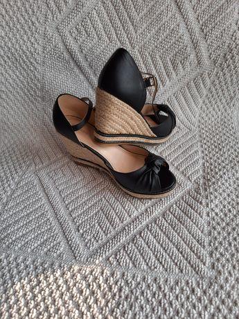 Sandały 37, sandały na koturnie 37, buty letnie damskie