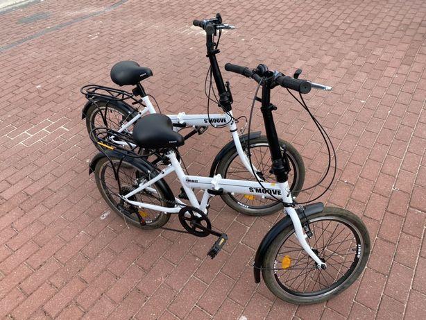 Rower składak składany nowoczesny S'MOOVE ORBIT 2 sztuki