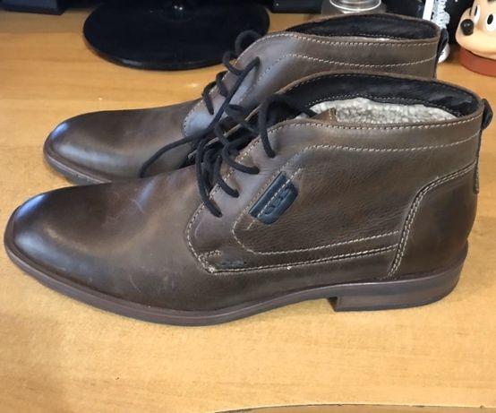Кожаные зимние мужские ботинки бренд S&G boots and shoes