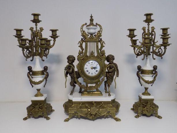 Piekny duży zegar kominkowy nr-86