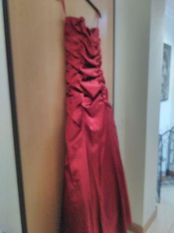Vestido cerimônia Novo com echarpe