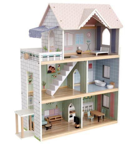 Duży Drewniany domek dla lalek z dźwiękiem !