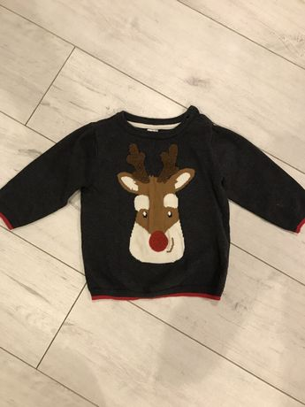 Новогодний свитер с оленем H&M на ребенка