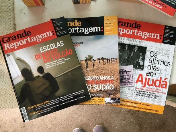 Revistas Grande Reportagem mensais originais de 2000 a 2002