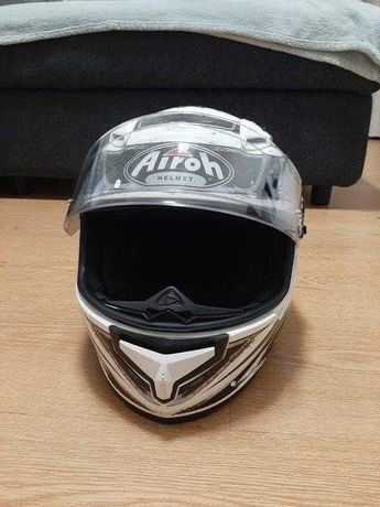 Capacete Airoh T600 Knife White Gloss M
