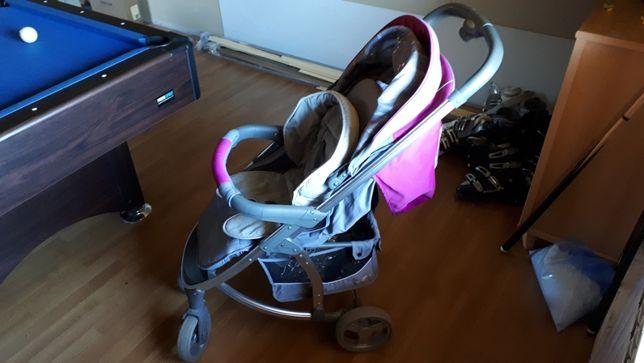wózek dziecięcy Easy Go Virage dla dziewczynki różowo szary spacerówka