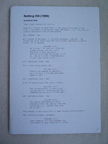 книга на английском языке сценарий Ноттинг Хилл Notting Hill