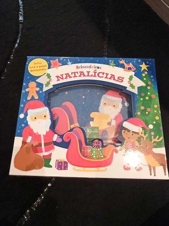 Brincadeiras natalícias, inclui livro de história e peças destacáveis