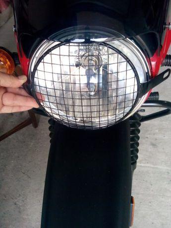 Захист круглої фари (6.5 дюйма) мотоцикла.  Дрібний квадрат