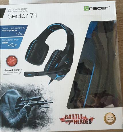 Słuchawki gamingowe tracer sector 7.1 usb niebieskie czarne