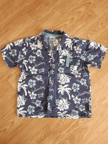Koszula hawajska 92 niebieska