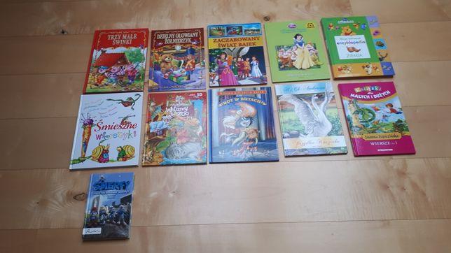 Zestaw 11 książeczek dla dzieci.