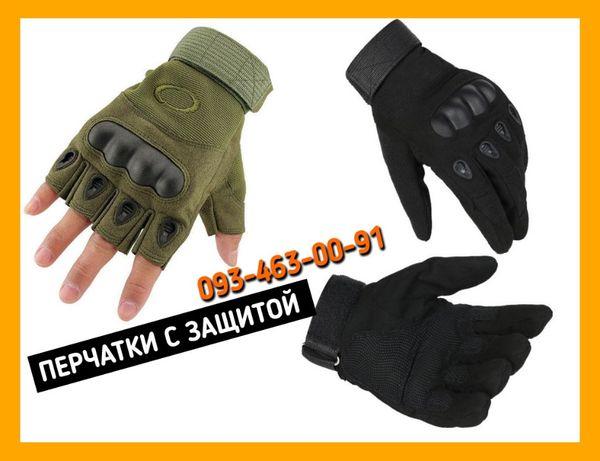 Тактические перчатки Oakley без пальцев и с пальцами Олива и Черный