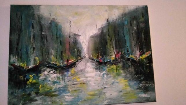 Obraz olejny- abstrakcjonizm