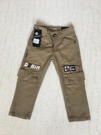 Котоновые брюки/штаны на мальчика/хлопчика, 2,3,4,5,6 лет