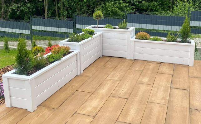 Nr4. Doniczki drewniane 120x40x42h doniczka kwadratowa donice