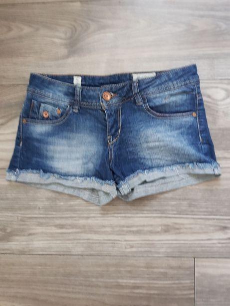 Spodenki szorty jeansy pull and bear