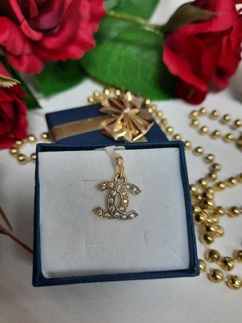 Piękna zawieszka złota złoto 585 chanel