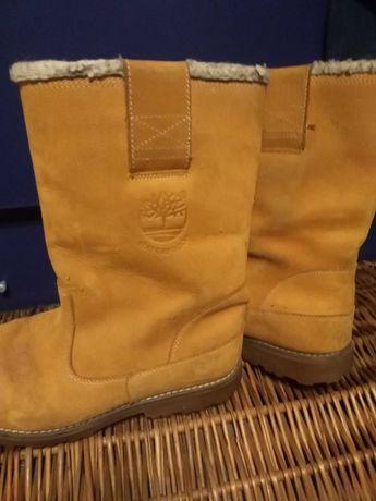 Buty Sniegowce Skóra naturalna Róż 38 Firmy Timberland