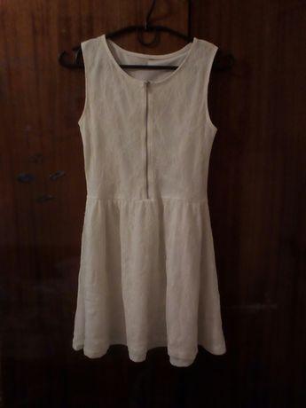 Белое платье с замком спереди, сарафан на девочку.