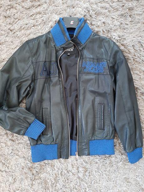 Кожаная куртка Armani junior