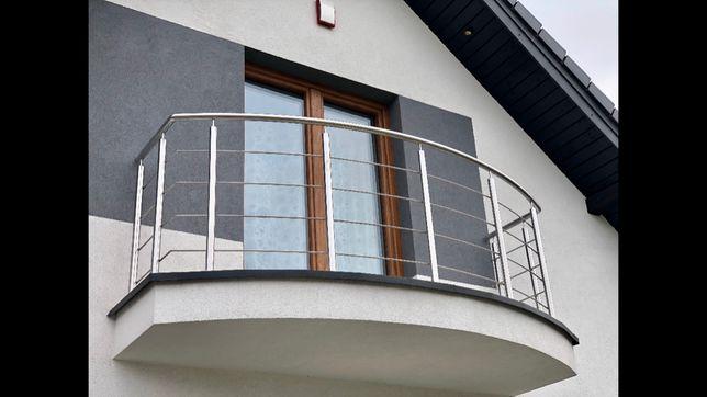 Balustrada Tarasy Balkony Barierka Ze Stali Nierdzewnej