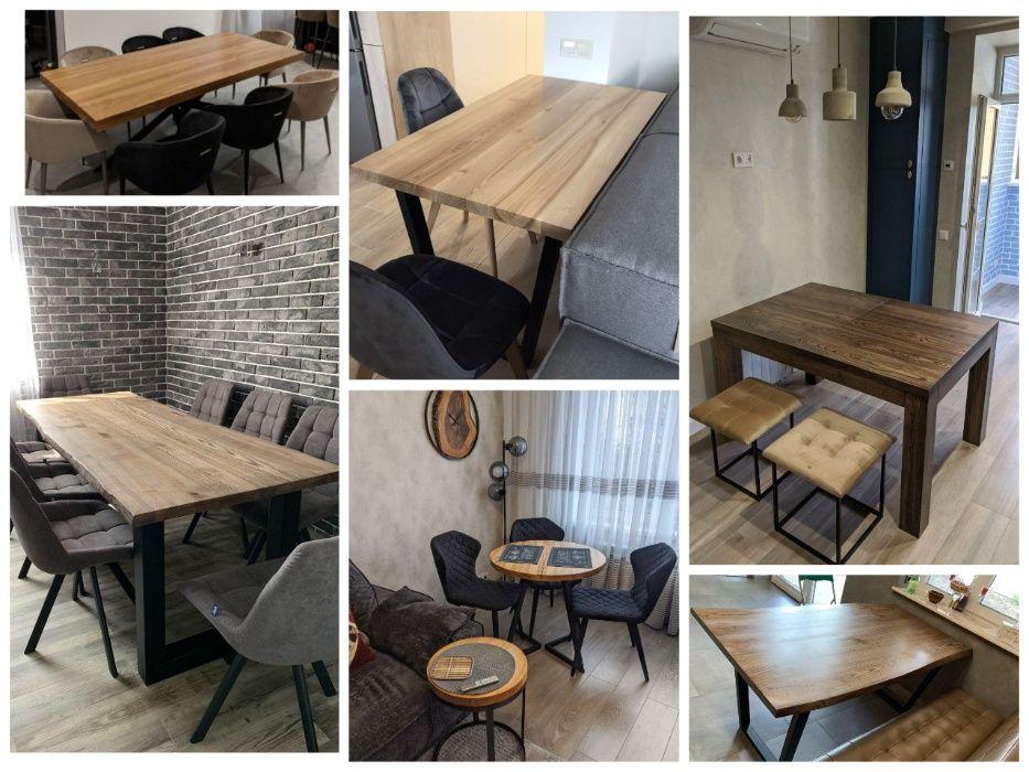 Стол в стиле Loft лофт кухонный на кухню письменный в офис дубовый Полтава - изображение 1
