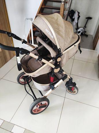 Wózek 3w1, gondola, spacerówka, nosidełko, moskitera, folia-deszcz