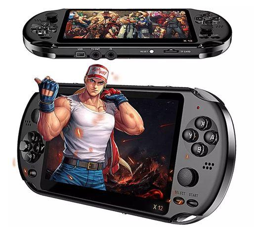 """Consola portátil de jogos modelo X12 (Com 300 jogos) ecrã grande 5.1"""""""