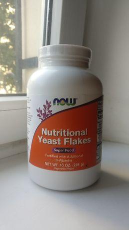Пищевые дрожжи / Nutritional yeast flakes, Now foods, 284 г.