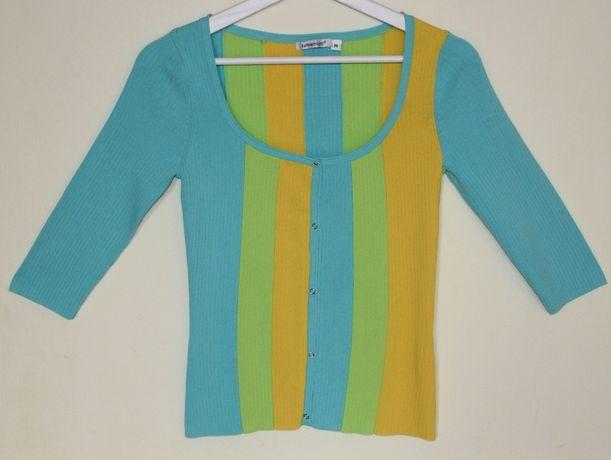 Bluzka dzianinowa w pastelowych kolorach damska rozmiar M