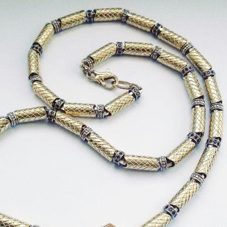 """Золотая мужская цепь из комбинированного золота """"Шик """" заказ"""