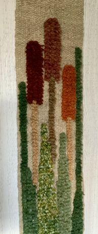 gobelin kilim  rośliny lata 70