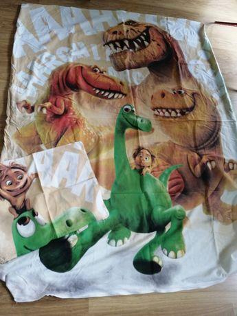Komplet pościel poszewki 160x200 dobry dinozaur