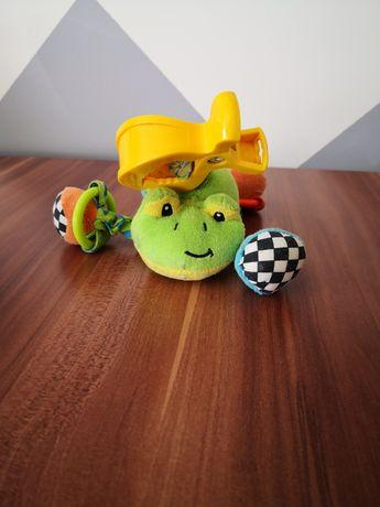 Zabawka, żaba na klipsie
