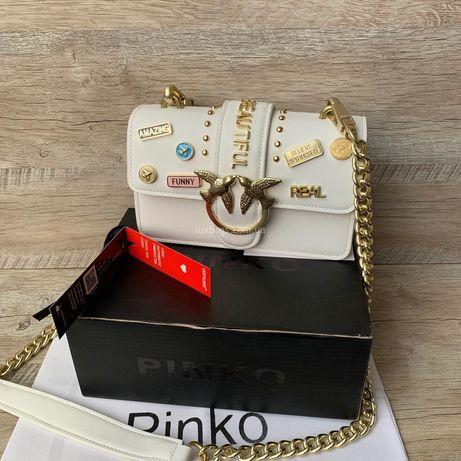 Женская кожаная сумка клатч Pinko Пинко