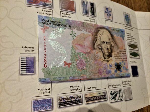 Banknot testowy PWPW Jan Krzeptowski - Sabała w folderze