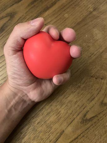 Coração anti stress. Brinquedo crianças peluche