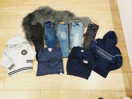 zestaw ubranek dla chłopca chlopiece 86 92 spodnie jeansy rurki