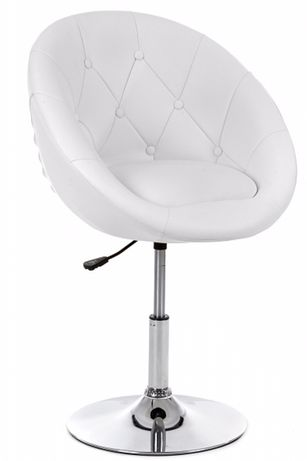 Krzesło fotel obrotowy regulowany muszelka pikowane skora eko