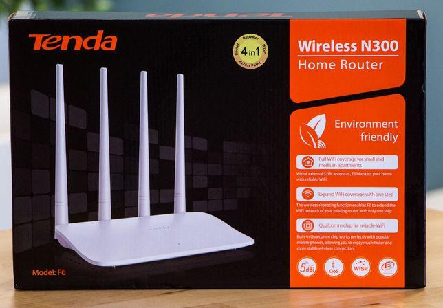 Router Tenda F6 WIFI Wireless N300 5dBi 4x anteny nowy w folii