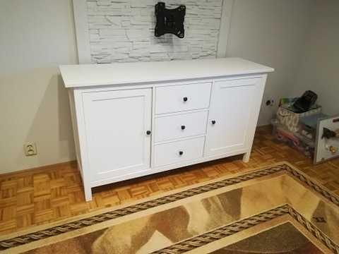 Ikea HEMNES Kredens, biała bejca157x88, szafka / komoda