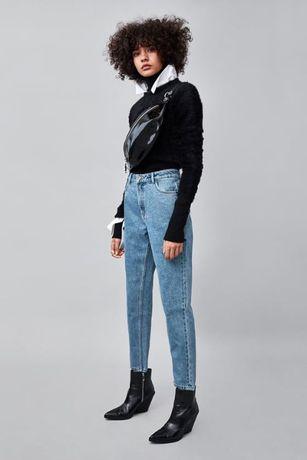 Calças Mom Jeans da Zara NOVAS, tam. 34