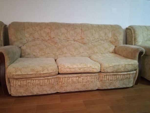 Conjunto de sofás em tecido