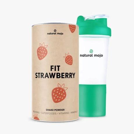 NATURAL MOJO FIT SHAKE-Zestaw Fit Strawberry+ shaker