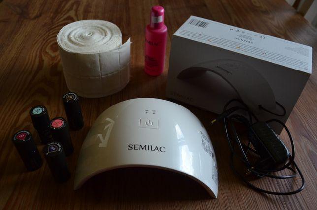 Zestaw Semilac lampa UV LED 24 W + lakiery hybrydowe.