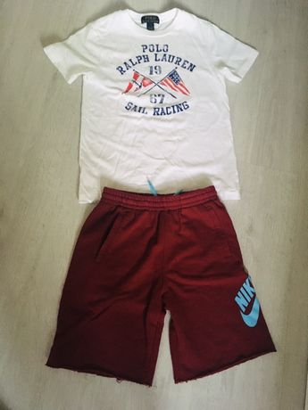 Bluzka chłopięca Ralph Lauren + szorty NIKE