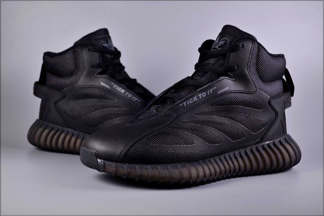 Зимние кроссовки Adidas Yeezy Black, Зимние кроссовки