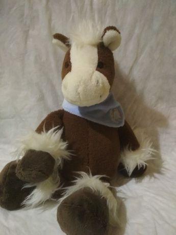 игрушка мягкая лошадь 30 см